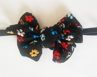 black floral bow