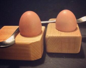 Chunky wood eggcups