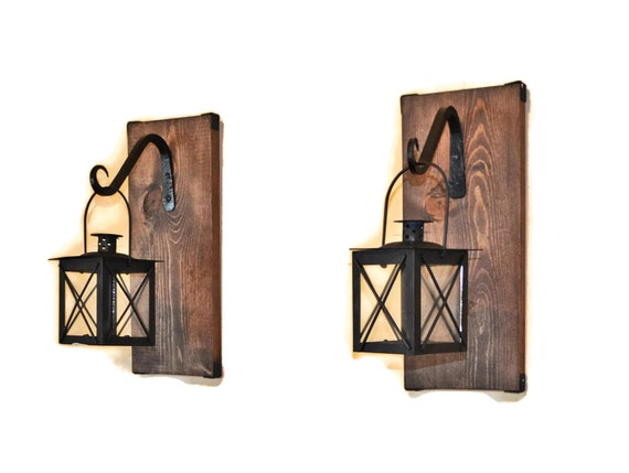Lantern Sconce Hanging Candle Lantern Pair by EllaMurphyDesigns