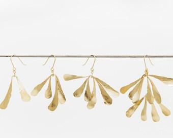 Earrings SAMARAS Golden brass - model medium-
