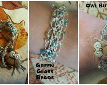 Owl Lace Hemp Bracelet