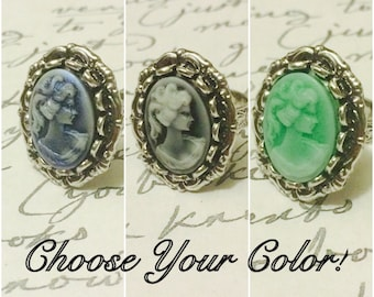 Victorian Lady Ring Adjustable - CHOOSE YOUR COLOR!