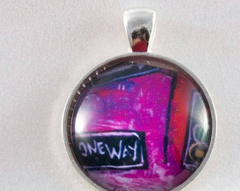 Stainless steel pendant One way