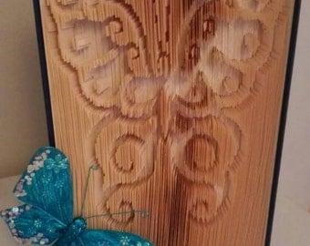 Valentines Gift, Gift for Girlfriend, Gift for Mother, Engagement, Gift, Butterfly, Handmade in Ireland, Folded Book Art, Wedding Gift