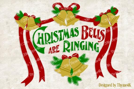 Digital Design Christmas Bells are Ringing Instant