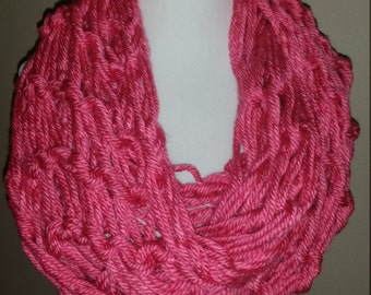 Thick Pink Knit Scarf