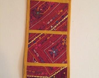 Handmade hand embroidered wall hanging