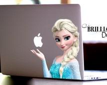 Elsa, Frozen, Elsa Decal, Frozen Decal, Elsa Sticker, Frozen Decal, Frozen Macbook Decal, Elsa Macbook decal, MacBook Pro, Gift, geekery