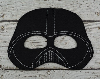 Vader Children's Felt Mask  - Costume - Theater - Dress Up - Halloween - Face Mask - Pretend Play - Party Favor