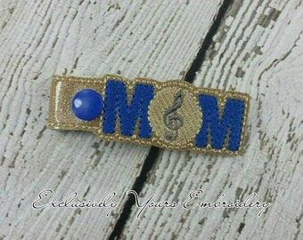 Band Mom Keychain with Treble Clef - Spiritwear - Bandmom - Bag Tag - Small Gift - Gift for Her - Thank You Gift - Team Gift - Team Mom