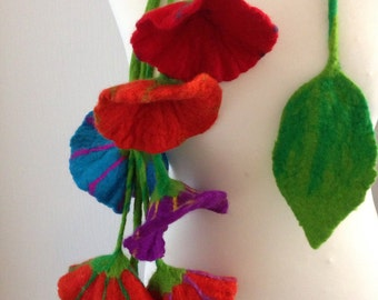 Felted, Merino Wool, Necklace