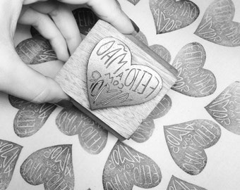 Handemade with love rubber stamp 5x5cm