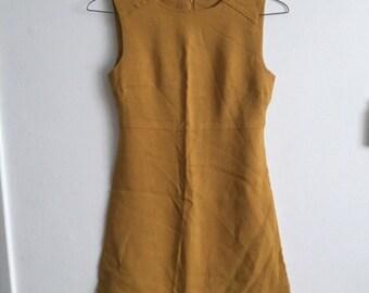 Vintage 60s mustard yellow dress