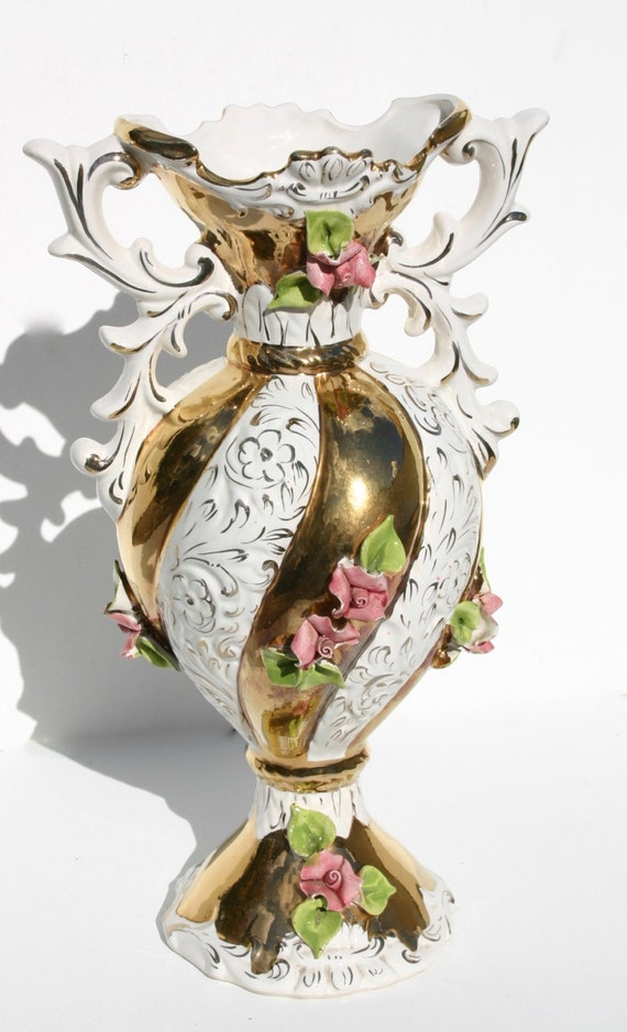 Vaso di capodimonte vintage vaso vaso antico rosa vaso for Vaso capodimonte