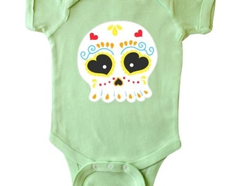 Sugar Skull Infant Creeper by Inktastic