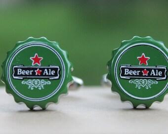Beer Bottle Cap Cufflinks