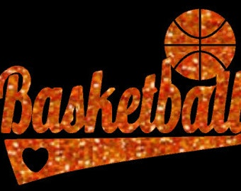 Glitter Basketball Mom Heat Transfer, Basketball Mom glitter iron-on, Basketball love. glitter basketball