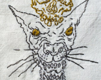 Small Wonder x Old Souls Sphynx Skull Embroidery