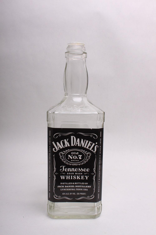 Empty Liquor Bottle LARGE Jack Daniels Whiskey 1.75 Liter