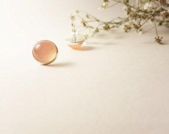 Pale pink earrings / Resin earrings / Bridesmaid earrings