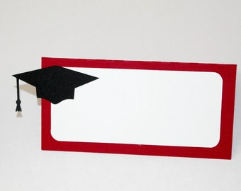Graduation Place Cards - cap and gown decor - graduation decorations - party supplies - food tents - class of 2018 - party decorations