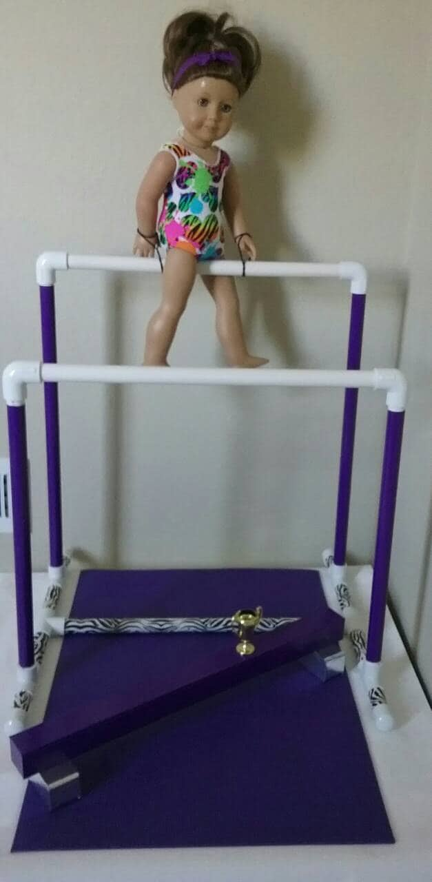Uneven Bars Balance Beam Gymnastic Set For American Girl Doll