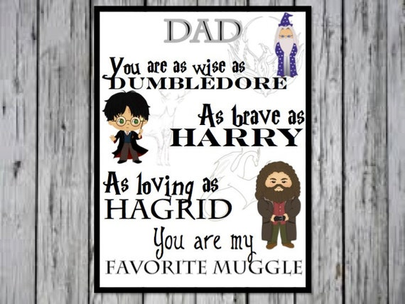 Harry Potter Dad Print Dad Birthday Present Dad Gift Dad