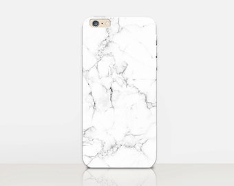 White Marble Phone Case  - iPhone 7 Case - iPhone 7 Plus Case - iPhone SE Case - Samsung S7 Case - iPhone 6S - Tough Case Matte Case