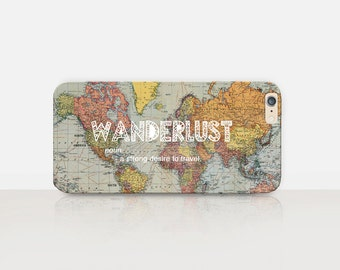 Wanderlust Quote Phone Case iPhone 7 Case - iPhone 7 Plus Case - iPhone SE Case - iPhone 6S case - iPhone 6 case - iPhone 5 Case  Samsung S7