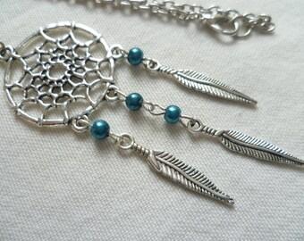 Dream catcher necklace,dreamcatcher pendant,dream catcher jewellery,boho jewelry,native american jewelry,handmade,gift,silver dreamcatcher