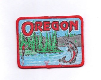 Vintage Oregon State Fishing Patch