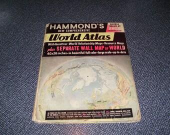 Hammond's Nature Atlas Of America By Jordan 1952 CL Hammond and Co j5g23