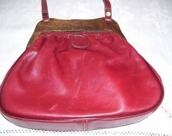 Vintage Etienne Aigner Shoulder Bag Leather and Wood