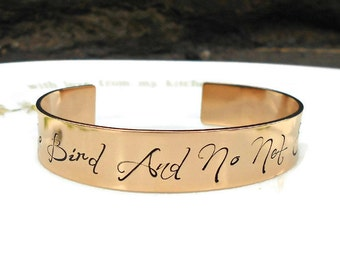 Charlotte Bronte, Inspirational Quote, Quote Bracelet, Literary Gifts, Literary Jewellery, Literature Quotes, Jane Eyre, Book Lover Gift