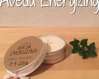 Aveda Energizing Soy Candle.  Made with real Aveda Oil. Poured to order.