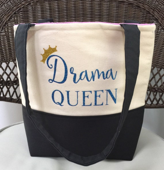 Drama Queen Tote Bag- Personalized Tote Bag - Theater Tote Bag - Custom Tote Bag - Drama Tote Bag - Handmade Tote Bag