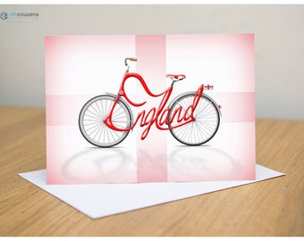 Bicycle Name Greeting Card, England, London, Cycling, Bicycle Name, Bike Card