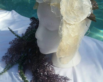 Mermaid Warrior Headpiece Sheashell Crown Shell Headdress