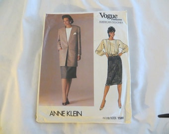 Vogue Pattern, Anne Klein
