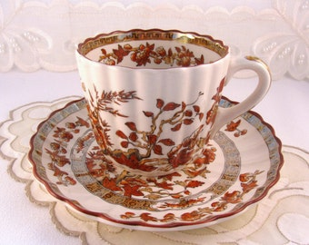 "Spode Copeland ""India Tree"" Cup and Saucer - Old Mark (Three Sets Available)"