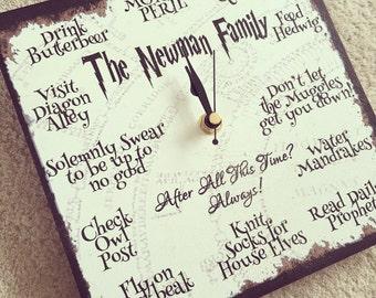 Harry Potter inspired Clock