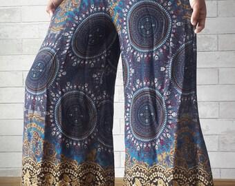 Wide Leg Yoga Pants Boho Bohemian Pants Harem Pants Beach Pants