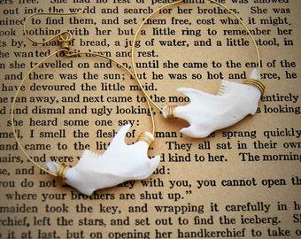 Jawbone earrings bone jewelry