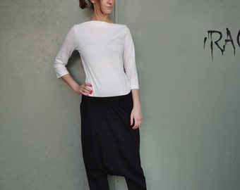 Extravagant Loose Pants / Black Loose Pants / Asymmetrical Pants