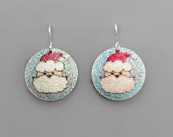 CLEARANCE - Santa Claus Glitter Earrings