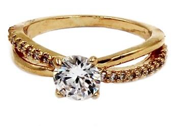 Sense crystal golden ring