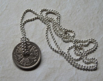 Danish 1 Krone Coin Necklace