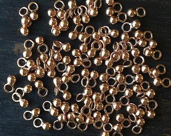 Gold Vermeil Charm Tiny 2mm Ball Charm Drop Dangle 5 x 2mm Package of Ten