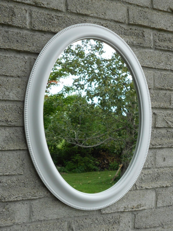 framed oval bathroom mirror white frame oval wall mirror vanity mirror bathroom mirror 18395 | il 570xN.1079994611 nlnu