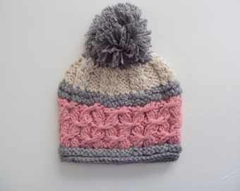 Winter Hat for Women / Coarsed knit hats/ Coarsed Hats for Winter